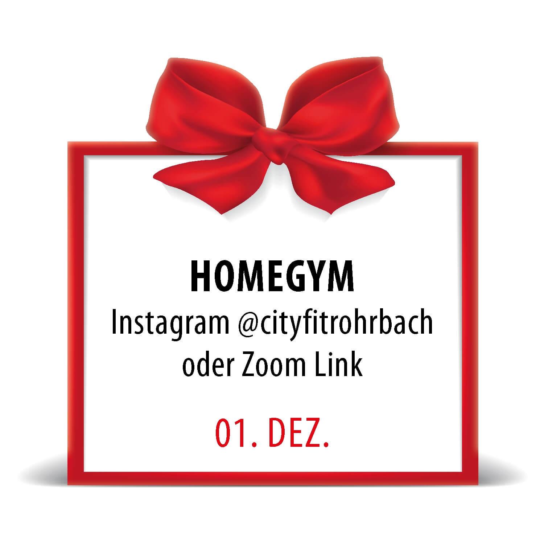 City Fit Adventkalender 1. Dezember