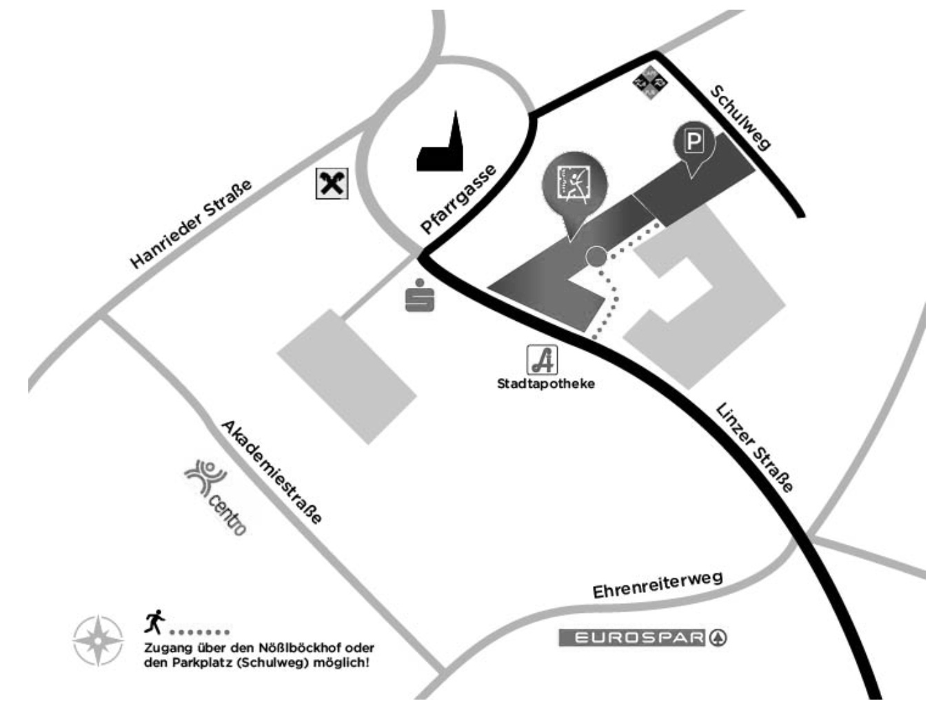 City Fit Rohrbach Berg - Lageplan
